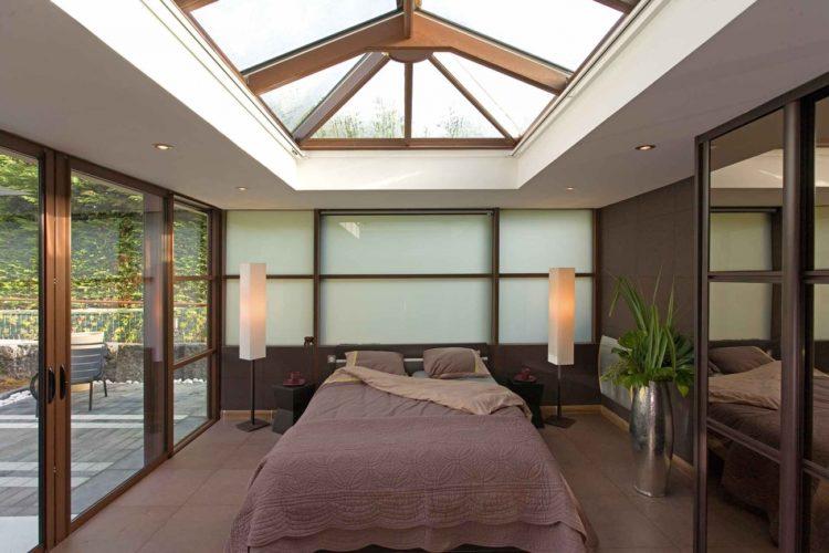 Chambre dans une extension toit plat