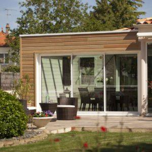 Extension de maison avec baie coulissante