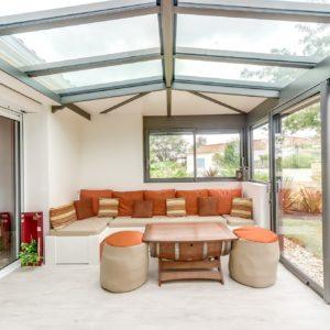 Extension véranda toit traditionnel