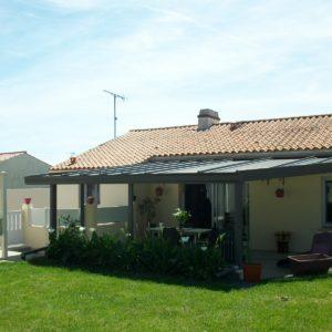 Installation Auvent sur terrasse en Vendée
