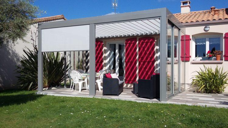 Installation pergolas sur une terrasse