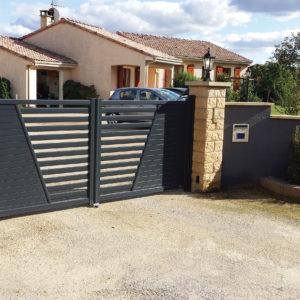 Portail automatique 2 vantaux en Vendée