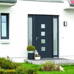 Porte d'entrée en aluminium Sud Loire